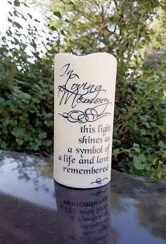 Battery operated candles made with a silhouette design 3.5X3 ...