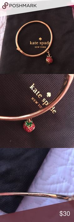 Kate Spade strawberry bangle Kate Spade strawberry bangle never used kate spade Jewelry Bracelets