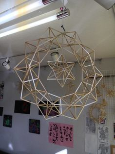 Christmas Parol, Christmas Lanterns Diy, Geometric Shapes Design, Geometric Decor, Parol Diy, Straw Sculpture, Castle Crafts, Straw Art, Paper Chandelier