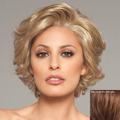 Ladylike Towheaded Curly Fashion Short 100 Percent Human Hair Lace Front Wig For Women
