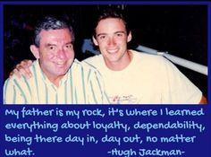 Hugh with his father Christopher Jackman Hugh Jackman, Hugh Michael Jackman, The Greatest Showman, Family Album, Family Affair, Wolverine, Logan, Honey, Father