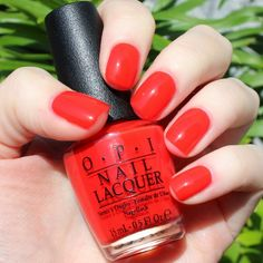 I stop for Red by OPI and Perrienial Chic!