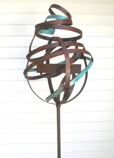 Sculptural Steel & Copper Bird Feeder 306 by joepapendick on Etsy