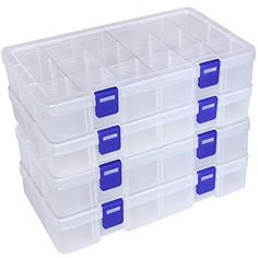Container Organization, Storage Containers, Makeup Organization, Plastic Container Crafts, Plastic Organizer, Plastic Storage, Nerf Toys, Perfume Packaging, Stabilo Boss