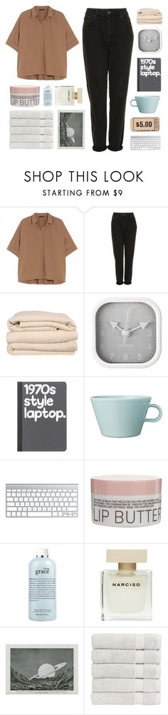 """i'm missing you too"" by darkdiamonds-1 ❤ liked on Polyvore featuring Donna Karan, Topshop, Brahms Mount, Karlsson, Arabia, Korres, philosophy, Narciso Rodriguez and Christy"