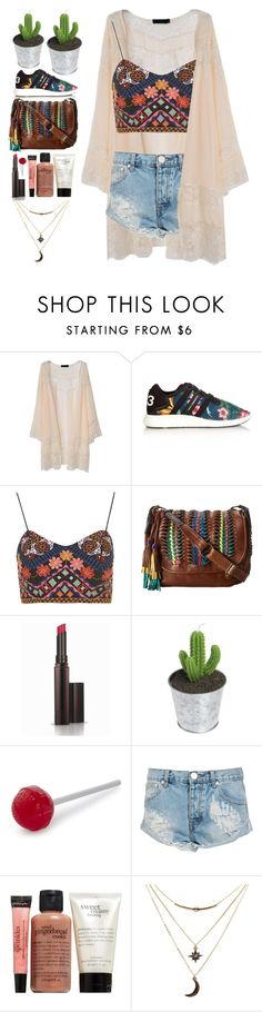 """""""summer vibe"""" by dinatasha ❤ liked on Polyvore featuring Y-3, Topshop, Frye, Laura Mercier, Fred, One Teaspoon, philosophy, Charlotte Russe, women's clothing and women"""