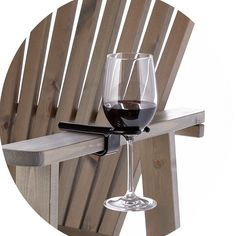 The wine glass holder that quickly and easily attaches to most chairs. The Wine Hook easily slides onto anything that is up to 1 inch thick!  Available in black and now in Red - just in time for Canada day!