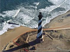 Hatteras Lighthouse just before the move by International Chimney.  Buxton, NC http://www.internationalchimney.com/public/images/CAPE%2520HATTERAS%2520LIGHTHOUSE%2520move1%2520REDUCE.jpg