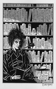 The Best Fictional Libraries In Pop Culture by Emily Temple| Lucien's Library, Sandman, Neil Gaiman  In the center of The Dreaming, in Dream's Castle, is Lucien's library, which contains every book that anyone has ever dreamed of writing — but has never written. Here, you can read anything, regardless of whether it's written in a language you can understand.