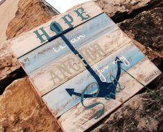 Pallet Art or Pallet Sign  Hope is an Anchor for my by LouandElle, $69.00
