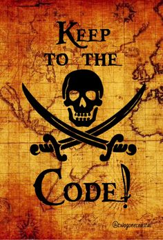 Keep to the Code! @twogonecoastal                                                                                                                                                      More