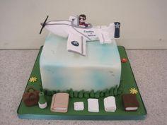 Adult airplane birthday cake