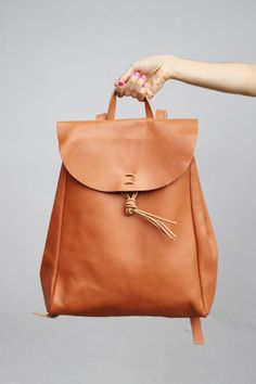 Vintage Style Hand Made Leather Backpack