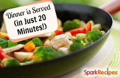 20-Minute Weeknight Dinners that are Good for You! | via @SparkPeople #food #recipe #fast #healthy
