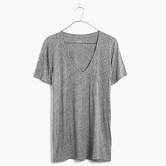 Whisper Cotton V-Neck Pocket Tee : whisper cotton tees | Madewell