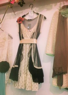 My idea of a perfect clothing combination, spotted in Camden Market this weekend. That is definitely the best place to go for vintage tea dresses!
