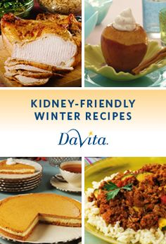 Get an array of festive Thanksgiving recipes in this new kidney-friendly Holiday Cookbook! Davita Recipes, Kidney Recipes, Diet Recipes, Healthy Recipes, Low Potassium Recipes, Low Sodium Recipes, Dialysis Diet, Renal Diet, Kidney Dialysis