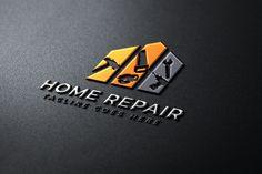 decor logo Home Repair Logo Template, Company Business Cards, Business Card Logo, Business Card Design, Bauunternehmen Logo, Arquitectura Logo, Handyman Logo, Maintenance Logo, Construction Logo Design, Graphic Design Brochure