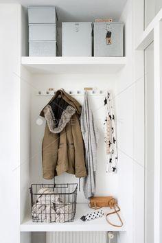 Boot room with shelf above Entry Stairs, Entry Hallway, Wardrobe Shelving, Wardrobe Rack, Storage Shelves, Storage Spaces, Shelf, Contemporary Hallway, White Hallway