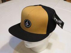 pretty nice 815b9 55780 Volcom stone logo hat cap golden mustard black GLM D5541212 Men s adult NEW  Mustard, Snapback