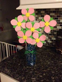 Flower notecards to make a flower bouquet