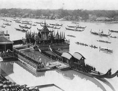 Ancient Royal Barge Procession of Thailand.