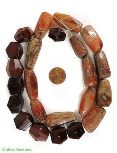 Title Carnelian Stone Trade Beads Faceted Idar Oberstein Africa Other Names Red Agate Type of Object Carnelian stone Made In Probably India Traded