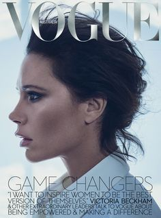 Superfemme Victoria Beckham fronts 'The New Girl Power', styled by Tony Irvine in sexy menswear looks. Photographer Boo George captures Victoria for Vogue Australia November Hair by Esther Langham; makeup by Romy Soleimani Vogue Magazine Covers, Fashion Magazine Cover, Fashion Cover, Vogue Covers, Cozy Fashion, Fashion News, Style Fashion, Fashion Beauty, Fashion Design