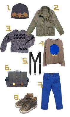 boy stuff for fall / petit à petit and family Boys Fall Fashion, Toddler Boy Fashion, Little Boy Fashion, Look Fashion, Baby Boy Outfits, Fall Outfits, Kids Outfits, Bright Blue Pants, Stylish Boys