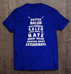 Doctor Who - Dalek Typography T Shirt