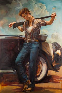 Angered by the gendered division perpetually seen in classic Western films, painter Felice House decided to create her painted series Re-Western. The collection of works are a re-imagining of her favorite Western films cast with female leads instead of the traditional male cowboys...