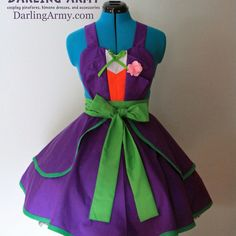 The Joker Batman Cosplay Pinafore Dress Accessory | Darling Army