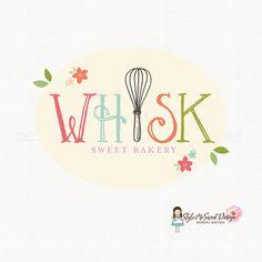 whisk logo design bakery logo design bakers by stylemesweetdesign