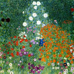 Jardín de flores - Gustav Klimt