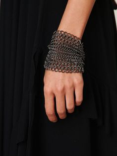 I would just slather this chainmail bracelet in all kinds of gorgeous beadery. Think of the possibilities!