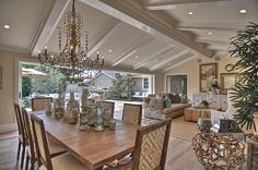 """Colors: The ceiling and trim colors are the same. Sherwin Williams """"old quaker"""". The beams are all painted with a lacquer finish. Walls DE """"boutique beige"""""""