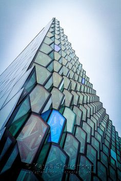 Harpa Concert Hall, Reykjavík, Iceland. Architectural visualizations. CG exterior visualizations. 3D images.