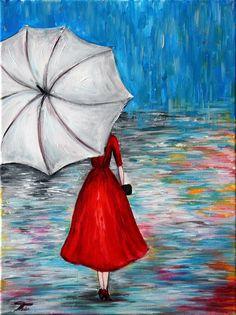 """Sei am 19. Januar 2018 bei unserer """"Lady in Red""""-ArtNight in Berlin dabei und male mit unserer Künstlerin ein tolles Motiv auf Leinwand."""