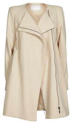 Wool coat, creme - Vila Clothes