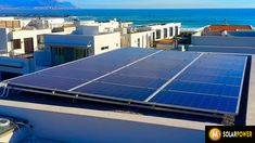 Solar Panels installed in Big Bay, Table View, Just outside of Cape Towwn, South Africa Big Bay, Solar Power System, Solar Energy, Solar Panels, South Africa, Cape, Outdoor Decor, Solar Power, Sun Panels