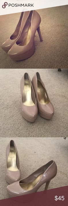 Jessica Simpson nude pumps/platform Perfect and comfortable nude pumps that go perfectly with any outfit to give it that classy posh look!  There is some wear on them and that's why I am selling for so low. Jessica Simpson Shoes Heels