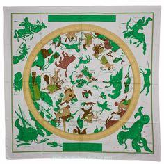 NWT Authentic Hermes Silk Scarf ZODIAQUE White   eBay