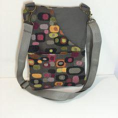 CROSSBODY BAG-Small CrossBody Bag-Sling Bag-Travel Bag-Handbag-Bags and Purses-Shoulder Bag- Kindle-Fabric Bag-Handmade Bag-Skinny Bag