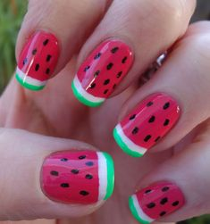 watermelon nails - Buscar con Google