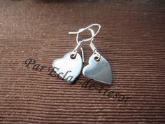 Boucles d'oreilles Argent 925 Coeurs inoxydables