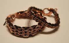 DIY: Rose Gold + Leather Link Bracelet from Stripes & Sequins Diy Leather Bracelet, Woven Bracelets, Leather Chain, Gold Leather, Link Bracelets, Diy Bracelet, Leather Jewelry, Leather Cord, Silver Bracelets