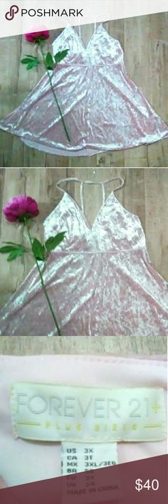 ❤️ New! Pink Velvet Plus Dress ❤️ Breathtakingly beautiful pink velvet thin strap halter dress from in Women's 3X. Gorgeous shimmering pink velvet sheen. Brand new with tags in excellent condition. Only one available. Free gift with every purchase ❤️ . Dresses