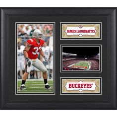 """James Laurinaitis Ohio State Buckeyes Fanatics Authentic Framed 15"""" x 17"""" Collage"""