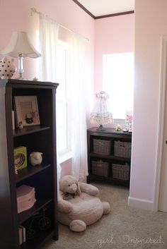 Pink and Brown Baby Nursery - Girl. Inspired.