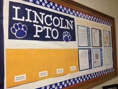 pto bulletin board idea- use QR code to link parents to recent newsletter, fb page, site, etc.